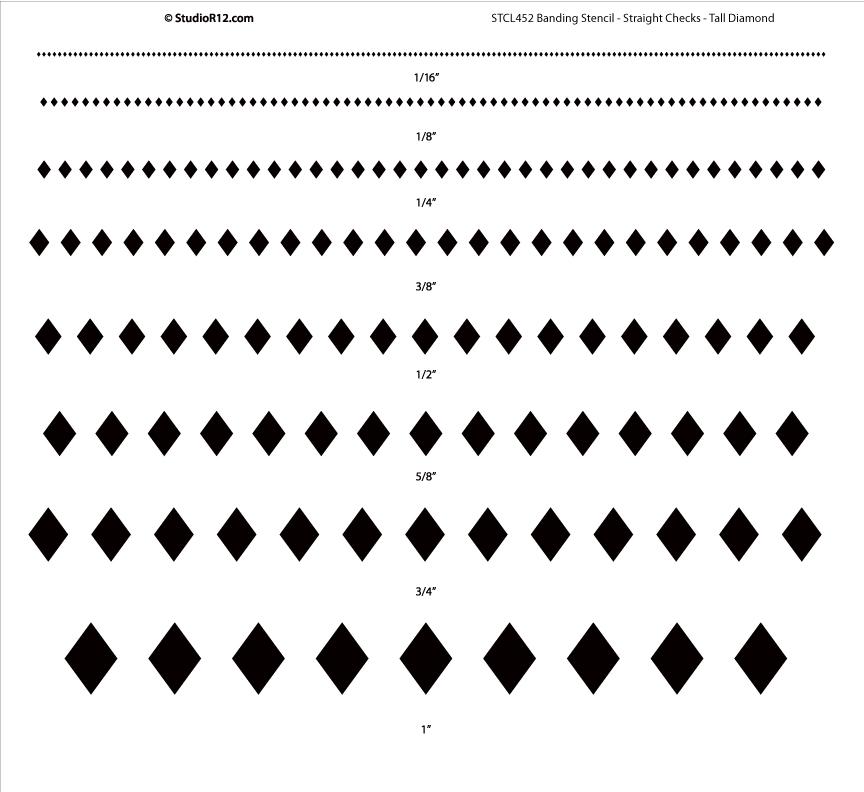 Banding Stencil - Straight Checks - Tall Diamond