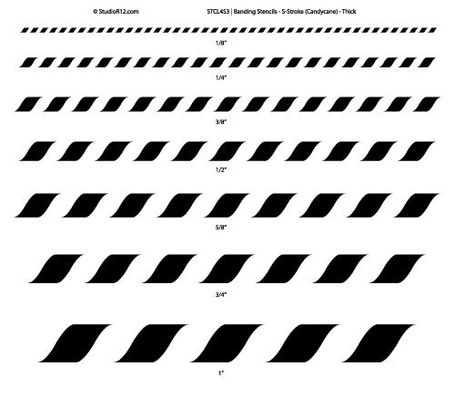 Banding Stencil - S- Stroke - Thick