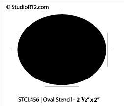 """Oval Stencil - 2 1/2"""" x 2"""""""