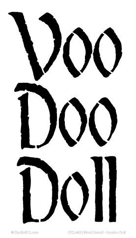 Word Stencil - Voodoo Doll