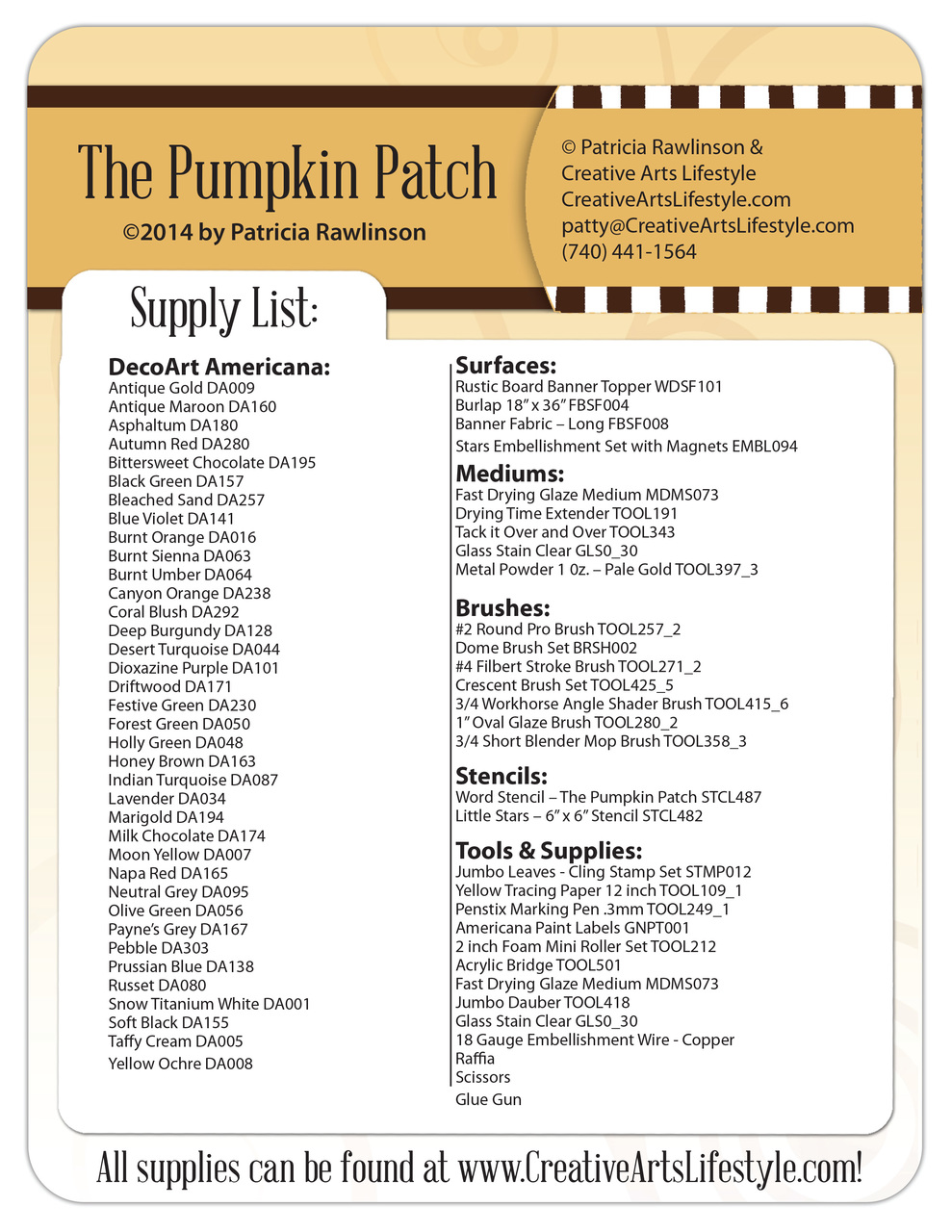 The Pumpkin Patch Pattern Packet - Patricia Rawlinson