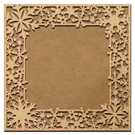 Snowflake Flurry Frame Overlay - Extra Large