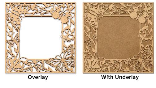 Butterfly Garden Frame Overlay - Medium