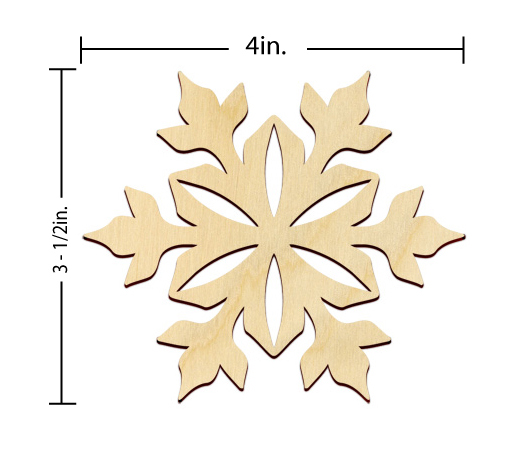 Snowflake Embellishment - 4 in.