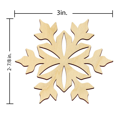 Snowflake Embellishment - 3 in.