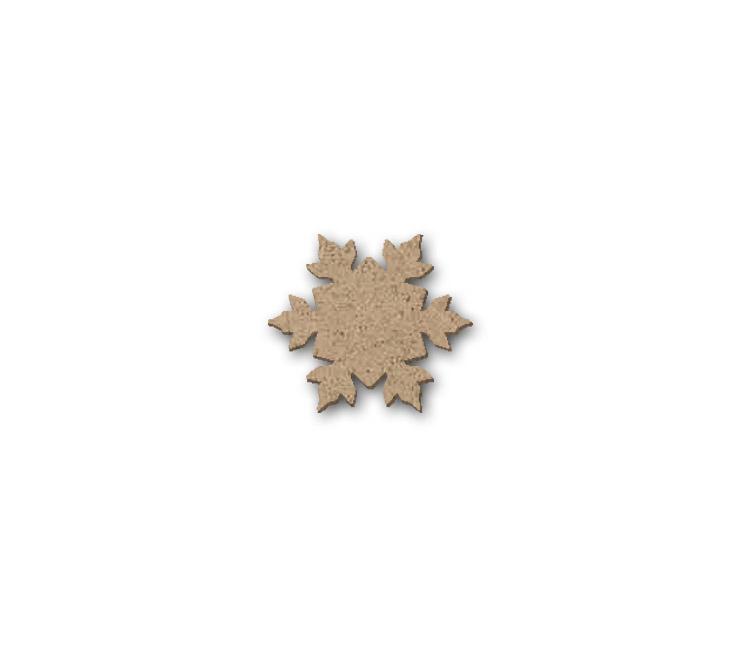 "Snowflake Embellishment - Mini - 1 1/8"" x 1"""