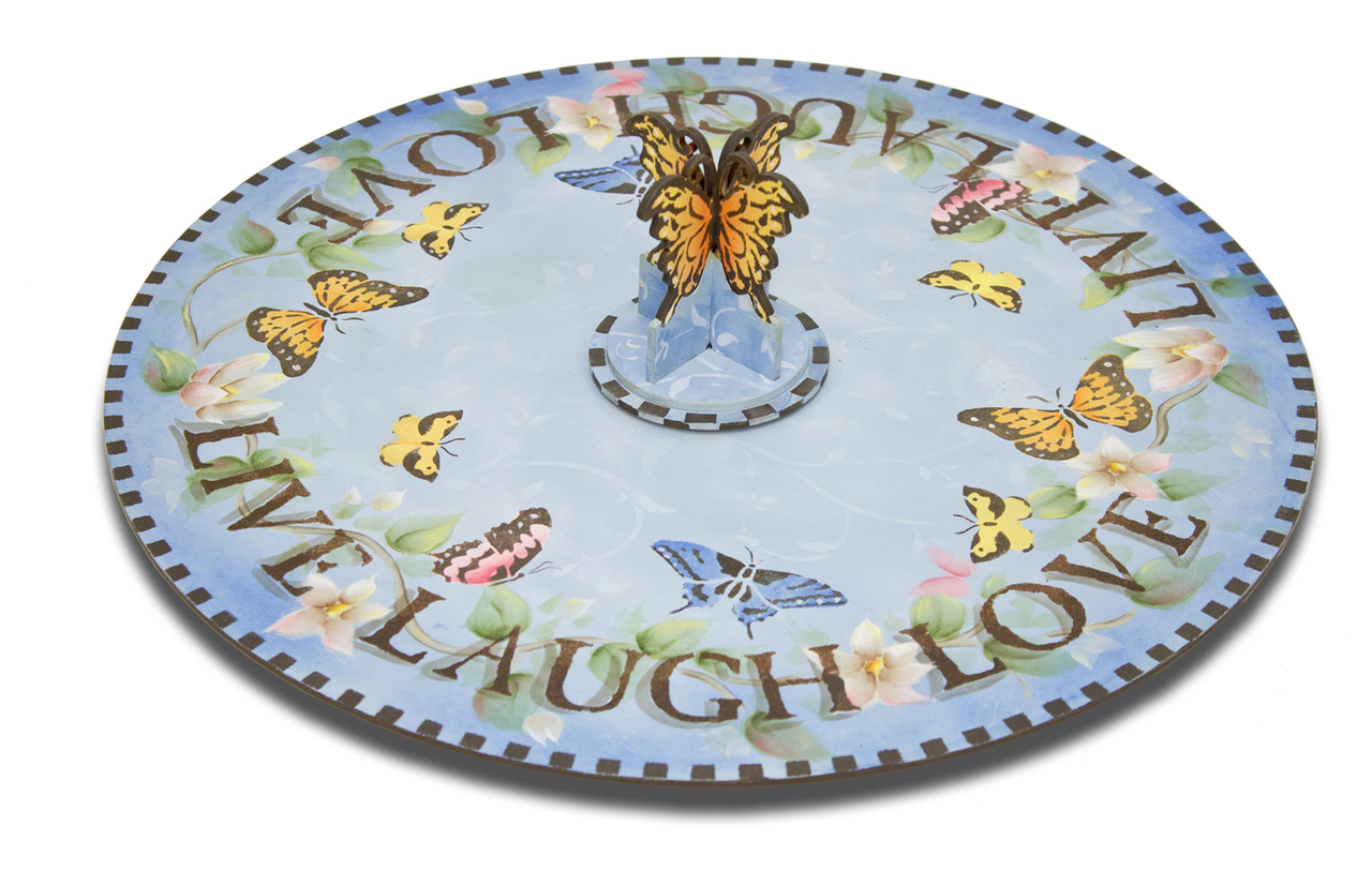 Butterfly Lazy Susan Pattern Packet