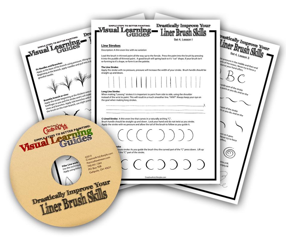 Visual Learning Guide + DVD: Liner Brush Skills