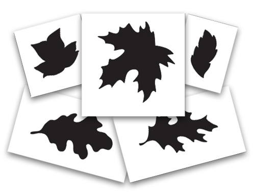 Leaf Wreath Stencil Set of 5
