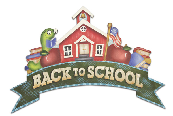 Schoolhouse Banner for Wreath