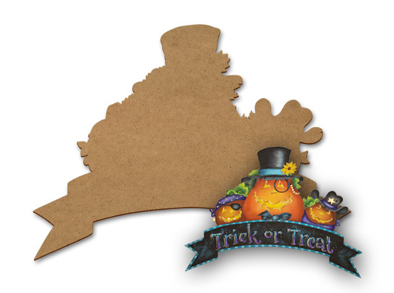 Halloween Banner for Wreath