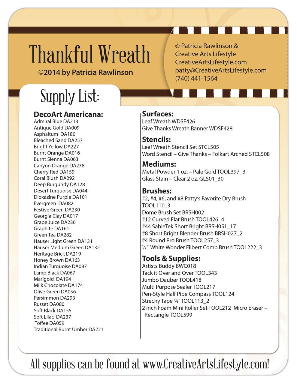 Thankful Wreath DVD & Pattern Packet - Patricia Rawlinson