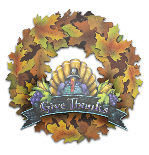 Thankful Wreath Pattern Packet - Patricia Rawlinson