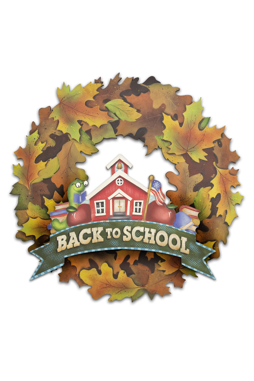 Back to School Wreath Pattern Packet - Patricia Rawlinson