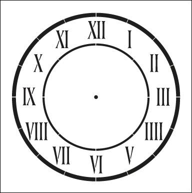 "D'Anjou Clock Stencil - 16"""