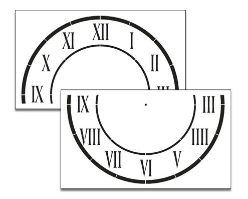 "D'Anjou Clock Stencil - 24"""