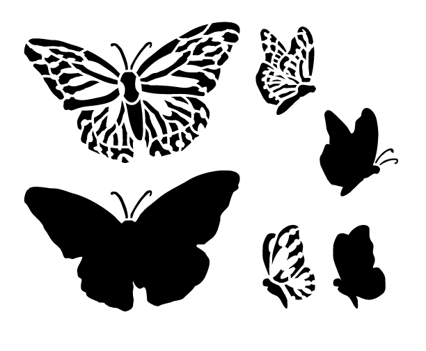 Monarch Butterfly Stencil