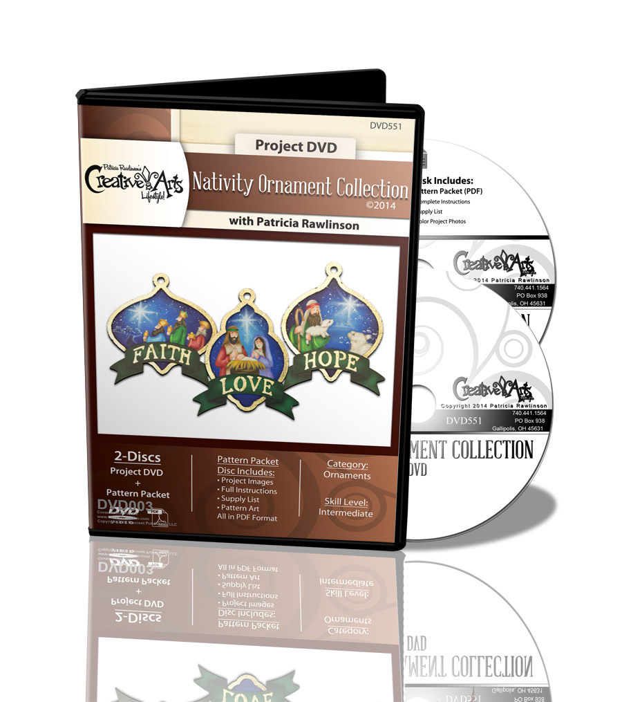 Nativity Ornament Collection DVD & Pattern Packet - Patricia Rawlinson