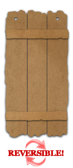 Reversible Rustic Plaque - Large