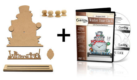 Standing Clock Surface Set - Winter Time Snowman & DVD Set