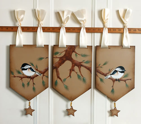 Chickadee Window Toppers - E-Packet - Anita Morin