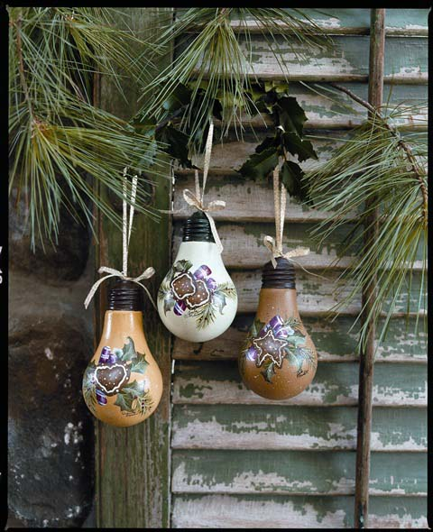 Christmas Light Bulb Ornaments - E-Packet - Anita Morin