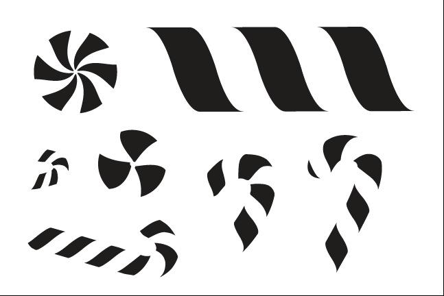 Candy Stripes Stencil