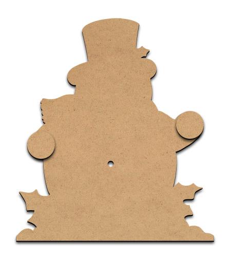 Standing Clock Figure - Snowman