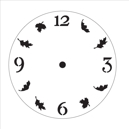 Harvest Time Clock Stencil - 5 in