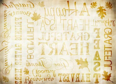 "Fall Words Antique Transfer Paper - 8"" x 10.5"""