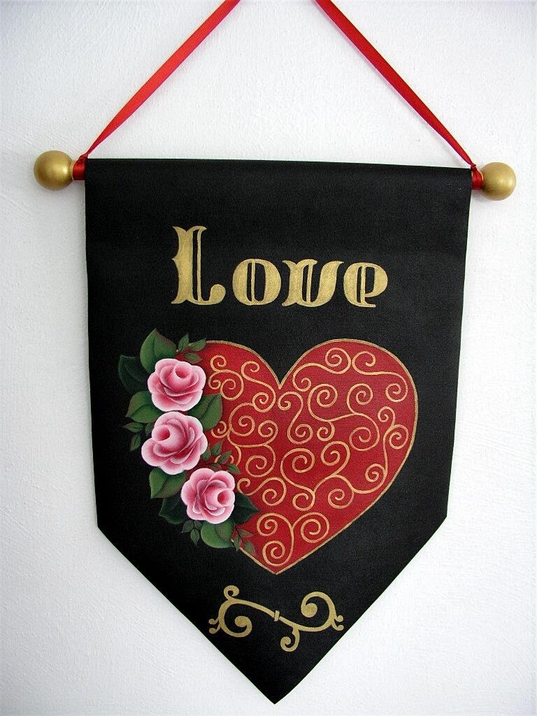 Love Heart Rose Banner - E-Packet- Jeanne Bobish