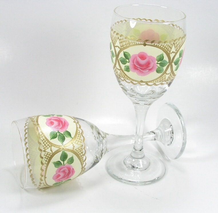 Provincial Rose Wine Glasses - E-Packet - Jeanne Bobish