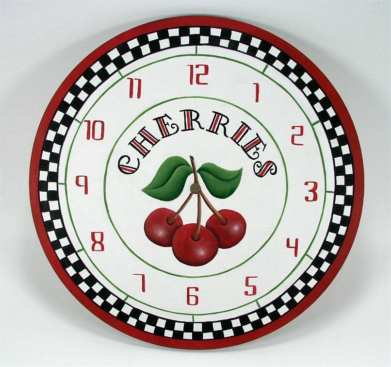 Cherries Clock - E-Packet - Jeanne Bobish