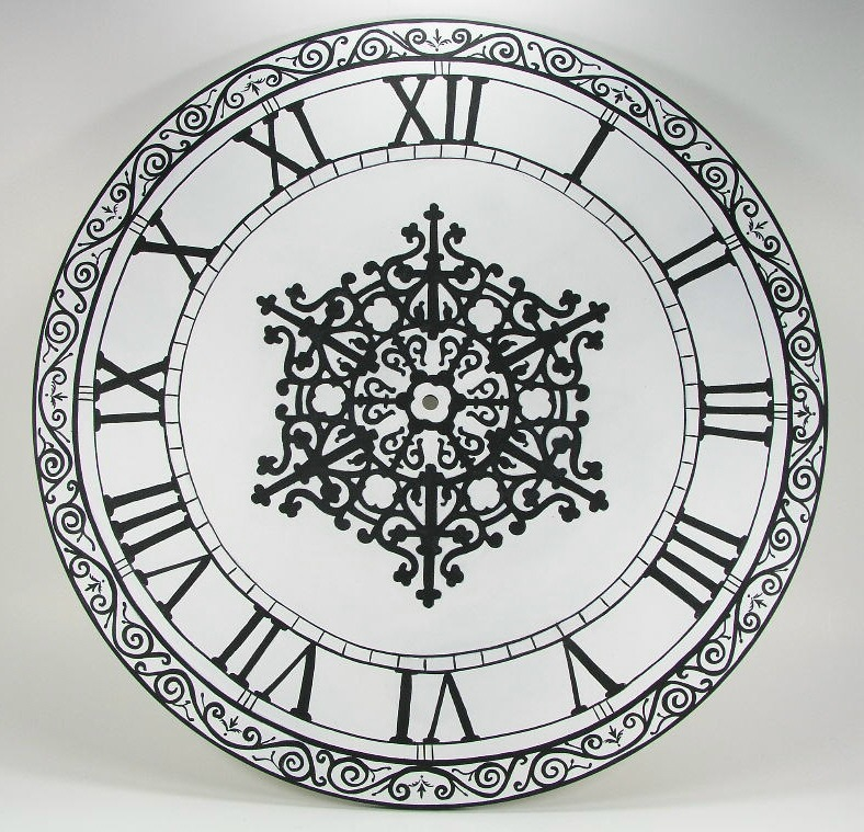 Lacy Black and White Wall Clock - E-Packet - Jeanne Bobish