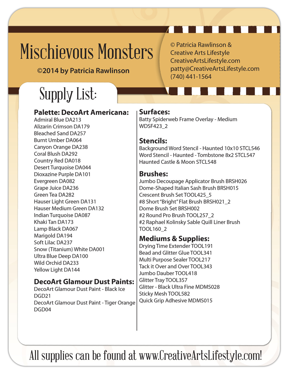 Mischievous Monsters DVD & Pattern Packet - Patricia Rawlinson