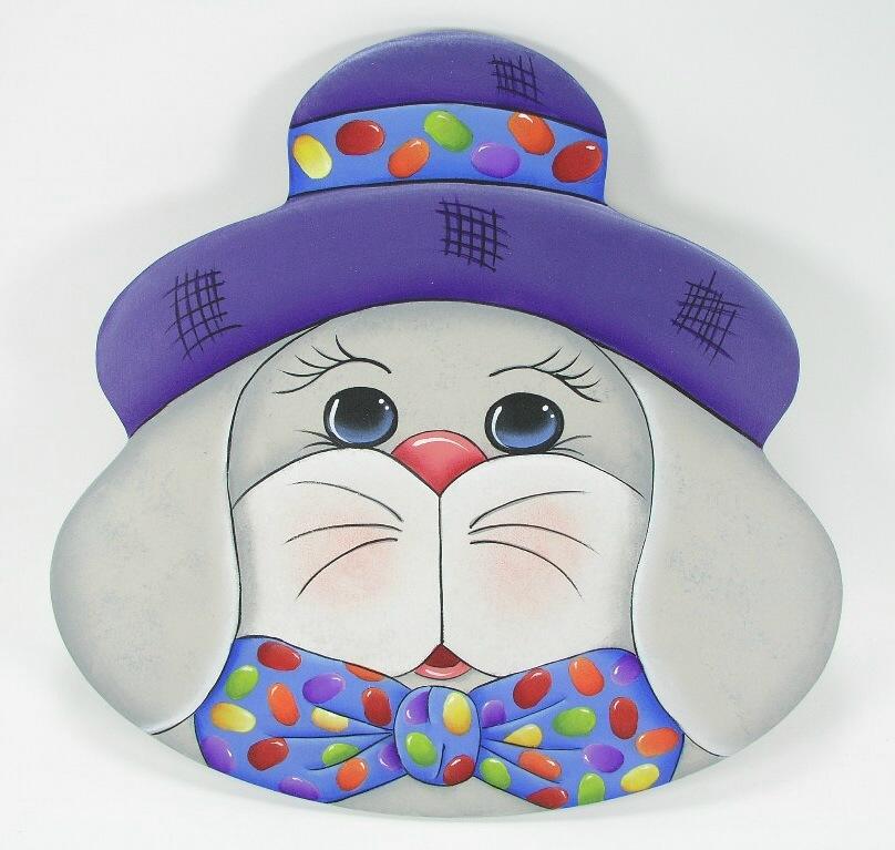 Bunny Face Plate - E-Packet - Jeanne Bobish