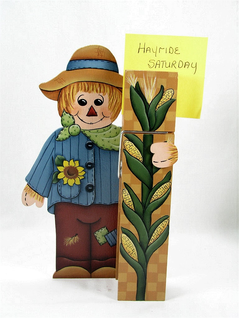 Scarecrow Clothespin Buddy - E-Packet - Jeanne Bobish