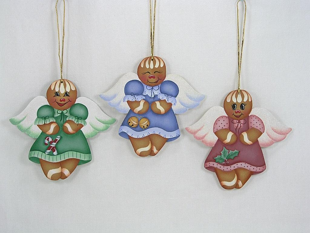 Gingerbread Angel Ornaments - E-Packet - Jeanne Bobish