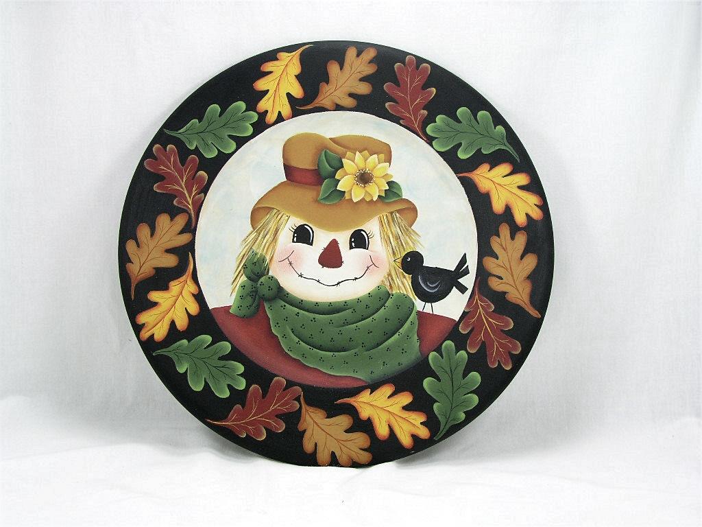 Fall Scarecrow Plate - E-Packet - Jeanne Bobish