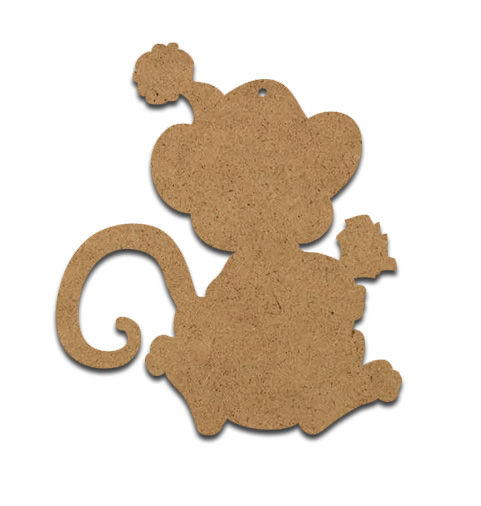 Wood Ornament - Christmas Mouse