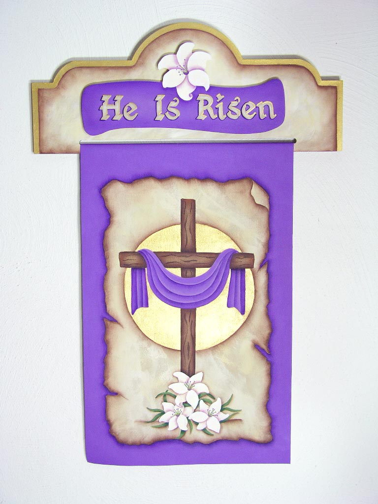 He Is Risen Banner - E-Packet - Jeanne Bobish