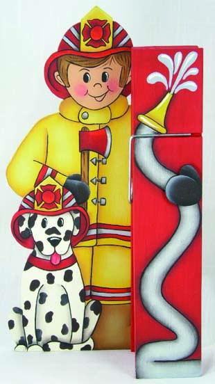 Firefighter Clothespin Buddy - E-Packet - Jeanne Bobish