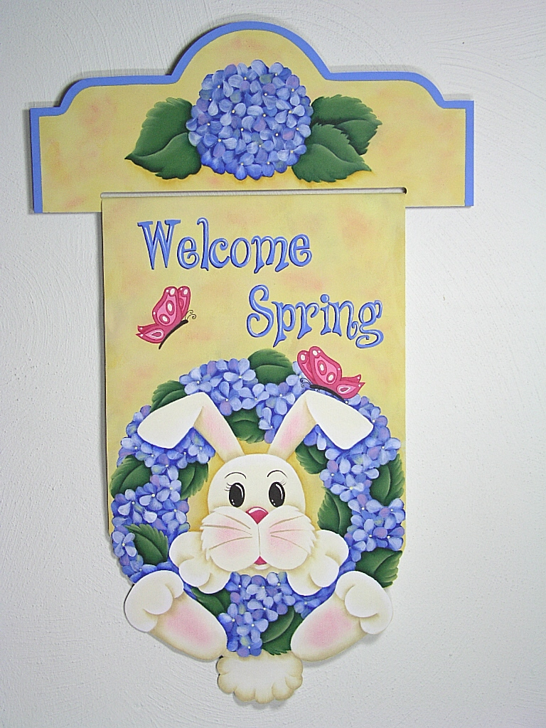 Welcome Spring Bunny Banner - E- Packet - Jeanne Bobish