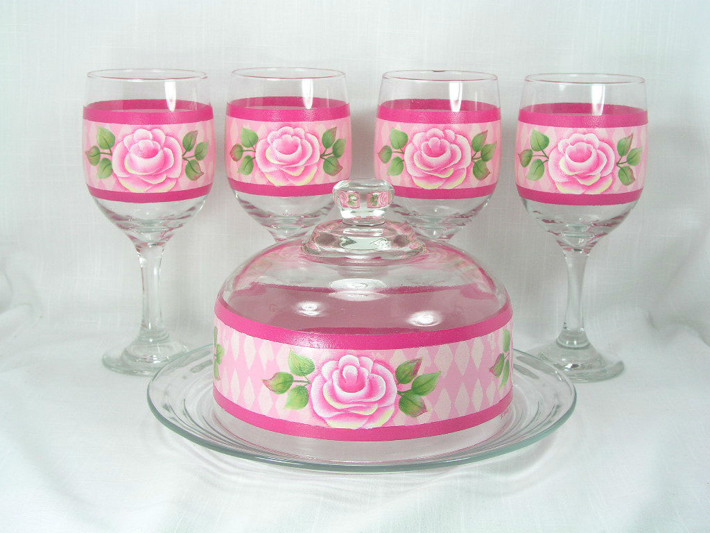 Lovely Roses Wine and Cheese Set - E-Packet - Jeanne Bobish