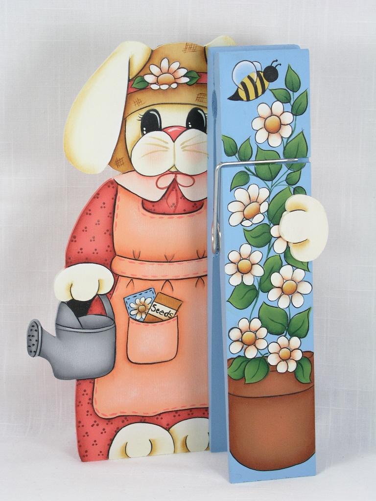 Garden Bunny Clothespin Buddy - E-Packet - Jeanne Bobish