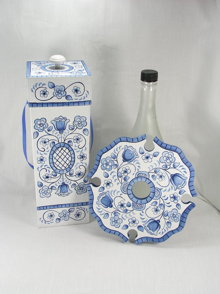 Blue Delft Floral Gift Set - E-Packet - Jeanne Bobish