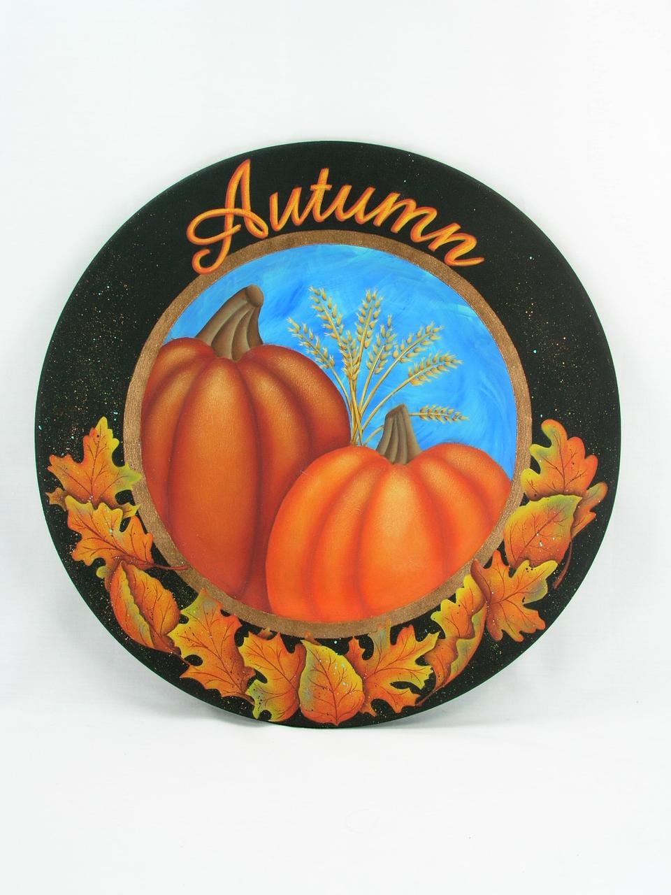 Autumn Pumpkins Plate - E-Packet - Jeanne Bobish