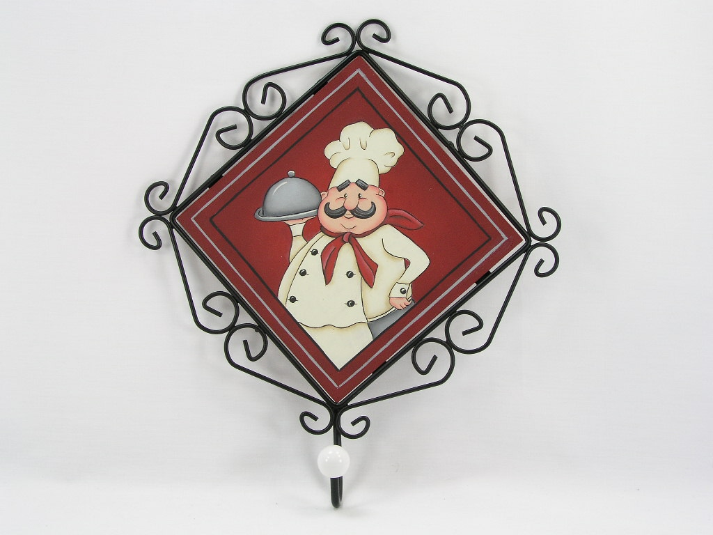 Gourmet Chef Metal Framed Plaque with Hook - E-Packet - Jeanne Bobish