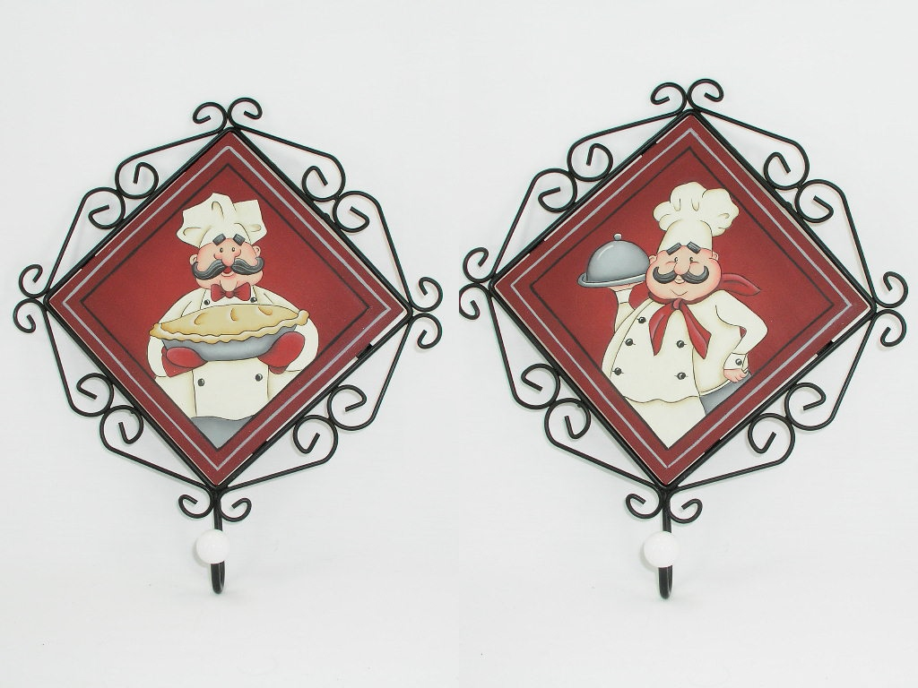 Chef Metal Framed Plaque with Hook Combo  - E-Packet - Jeanne Bobish