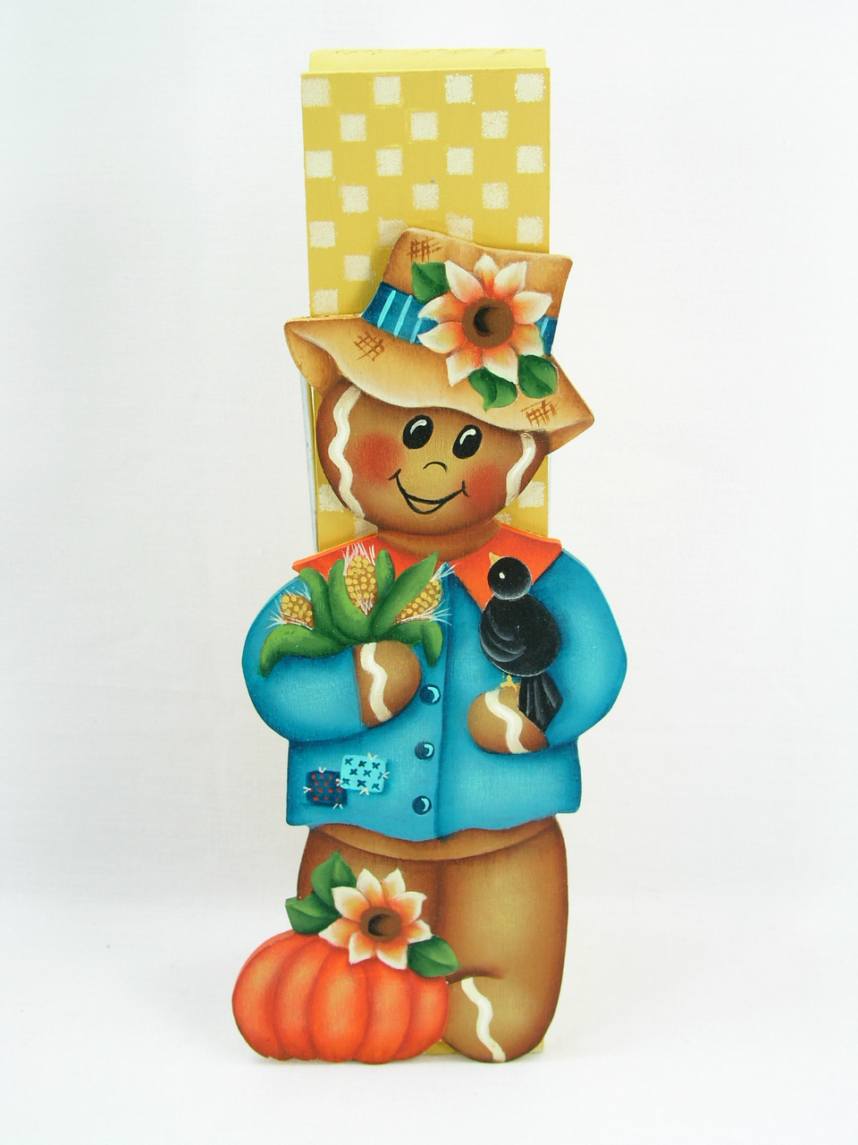 Gingerbread Scarecrow Clothespin Buddy - E-Packet - Jeanne Bobish